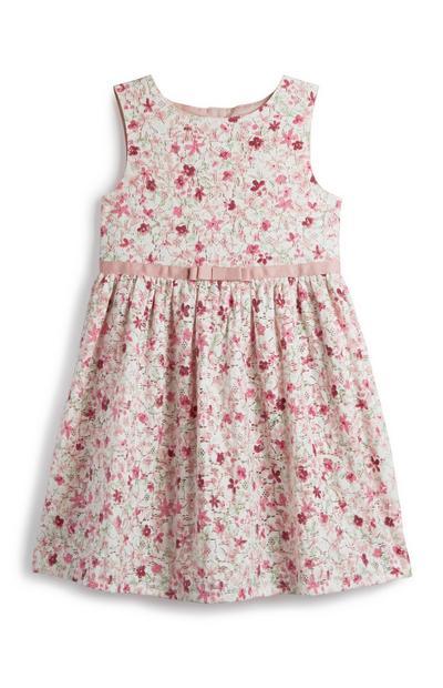 Pinkes Kleid mit Blumen (kleine Mädchen)