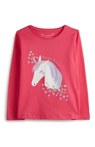Younger Girl Unicorn Top