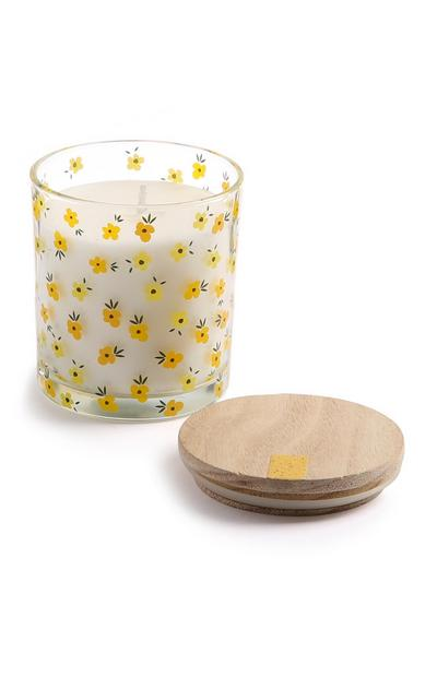 Yellow Flower Candle