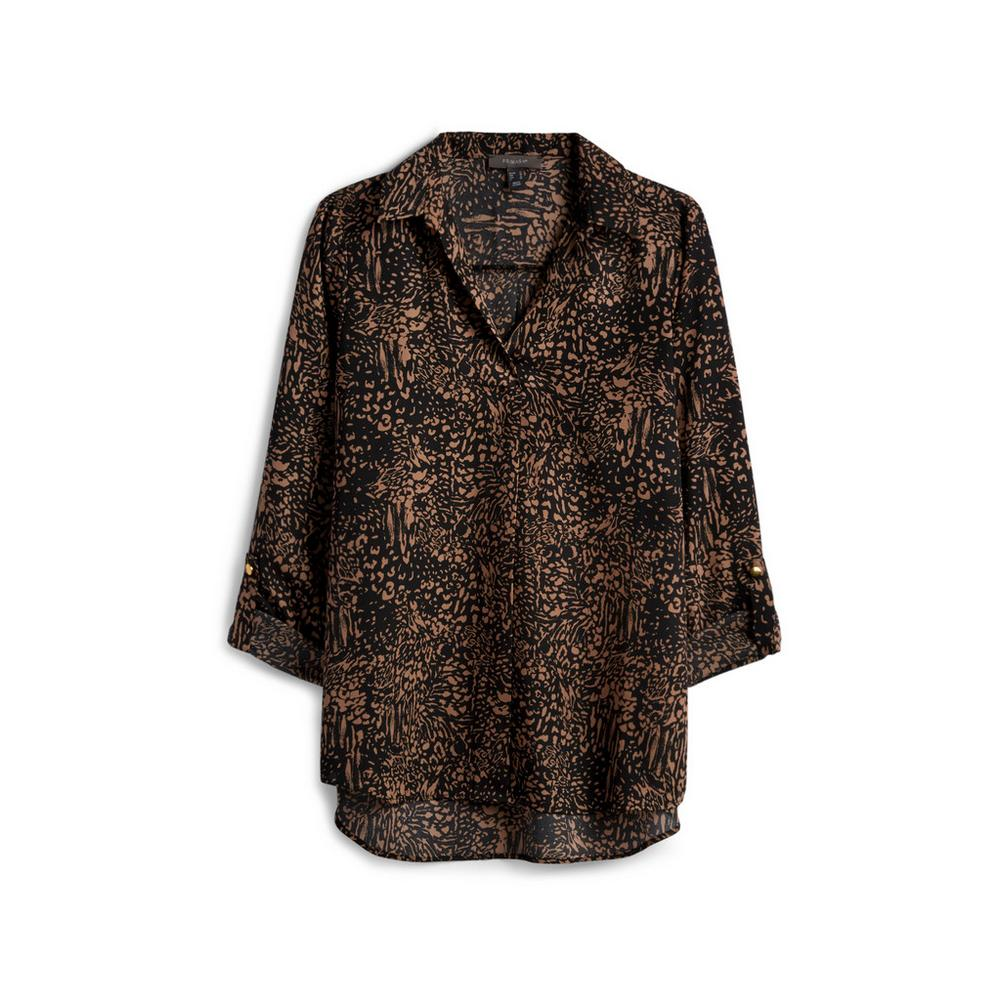 9ad941219f86a Black Patterned Blouse | Shirts | Tops | Womens | Categories ...
