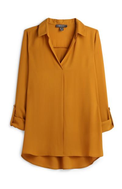 Mustard Yellow Blouse