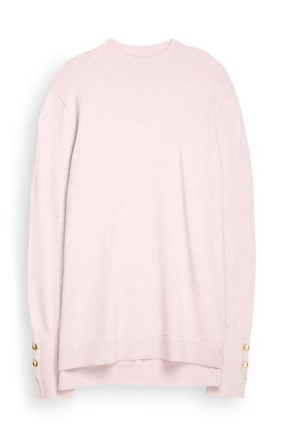 Rosafarbener Pullover
