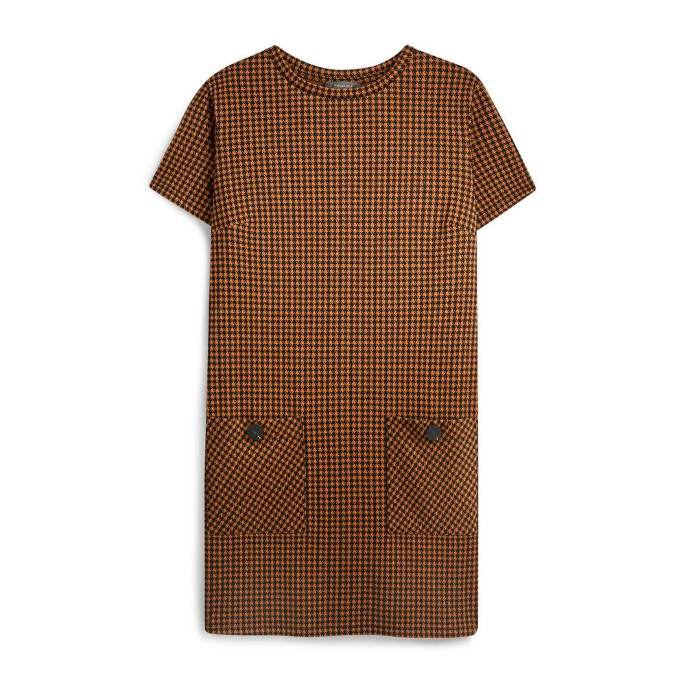 Brown Check Pocket Tunic Dress by Primark
