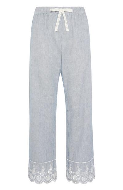 Blau gestreifte Pyjamahose