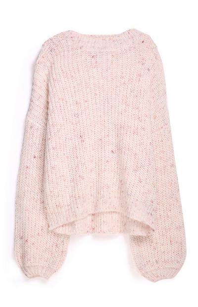 Pink Balloon Sleeve Jumper