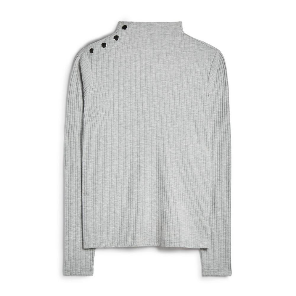 grey-button-shoulder-jumper by primark