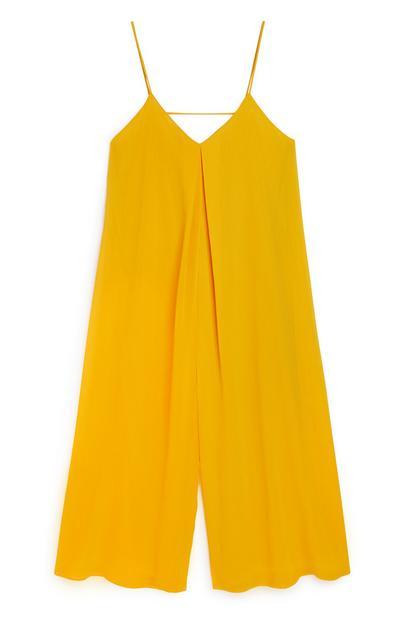 Gelber Culotte-Jumpsuit