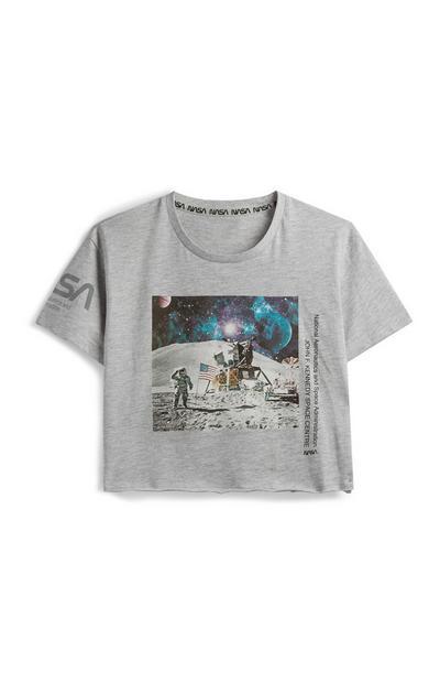 "Bauchfreies ""NASA"" T-Shirt"