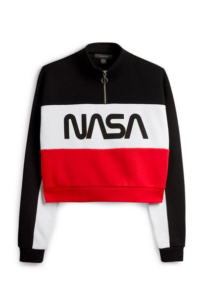 NASA Zip Crop Sweatshirt