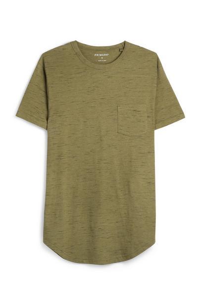 Khakifarbenes T-Shirt