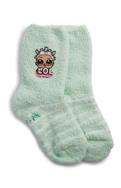 Green LOL Dolls Socks