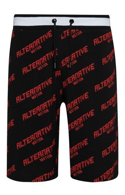 "Schwarze ""Alternative Motion""-Shorts"