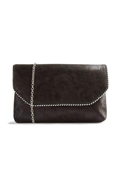 Black Ball Edge Clutch Bag