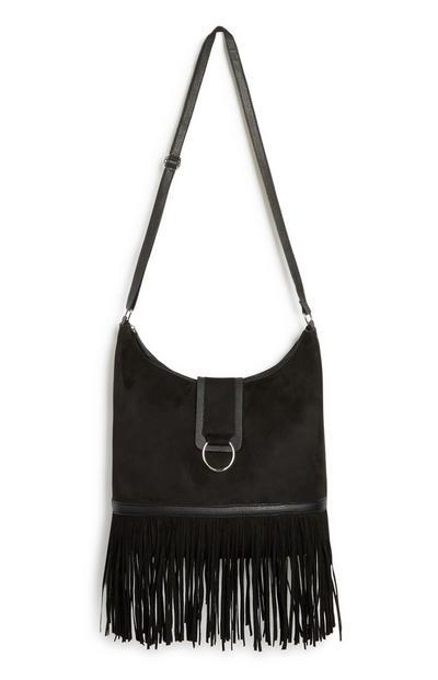 Black Fringe Bag