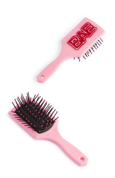 Pink Bae Paddle Brush