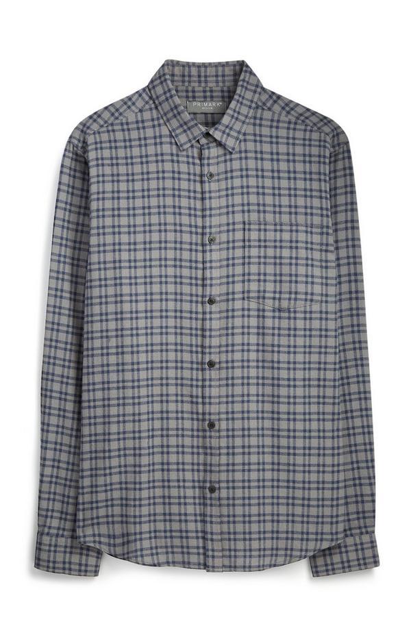 Grey Check Flannel Shirt