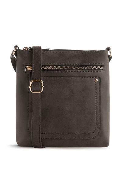 Schwarze Messenger-Tasche