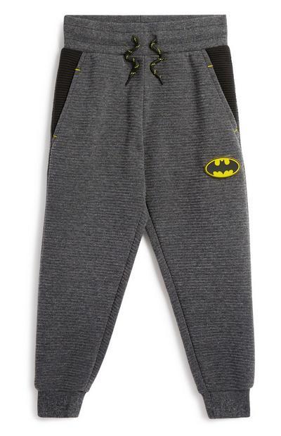 Younger Boy Batman Grey Jogger