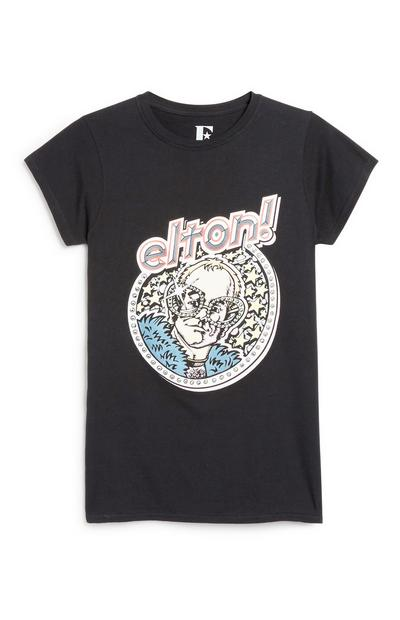 "T-Shirt mit ""Elton John""-Motiv"