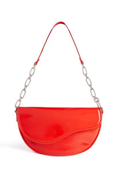 Red Patent Shoulder Bag