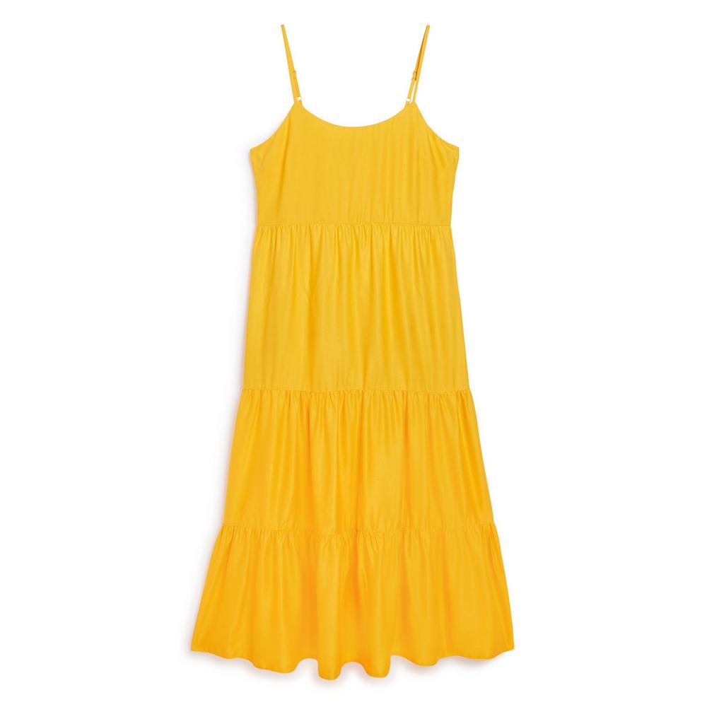 Yellow Tiered Dress by Primark