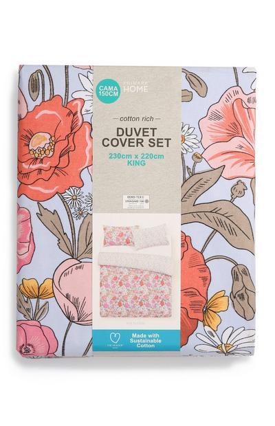 Floral King Size Duvet Cover