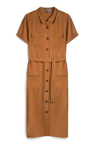 Orange Utility Dress