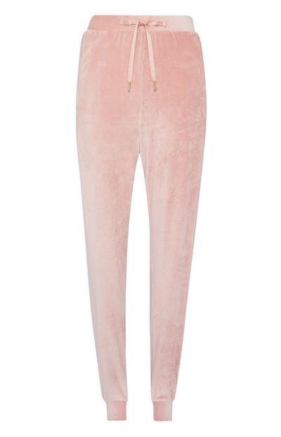 Pink Velour Jogger