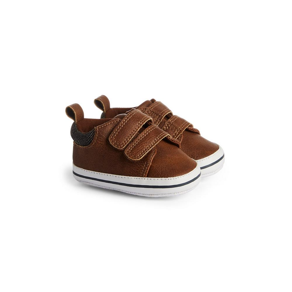 Baby Boy Tan Velcro Shoes by Primark