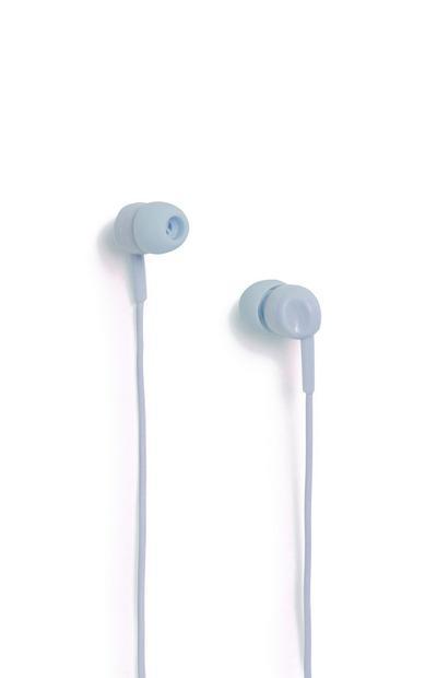 Dark Blue Earphones