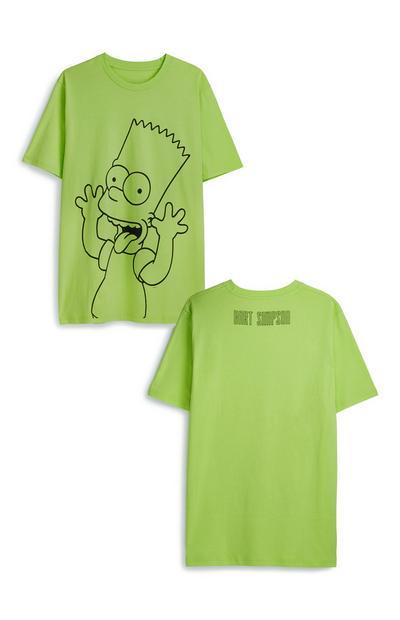 "Neonfarbenes ""Bart Simpson"" T-Shirt"