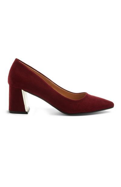 Burgundy Heel Court Shoe