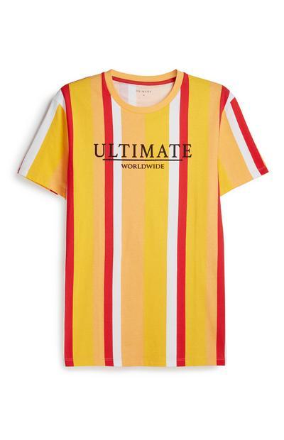 Gelb gestreiftes T-Shirt