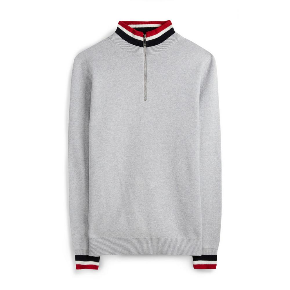 competitive price e620c 8e6a3 Grauer Pullover mit Streifen | Pullover und Sweater ...