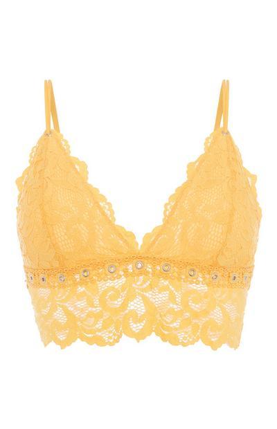 Mustard Lace Bralette