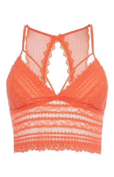 Orangefarbener Bralette-BH