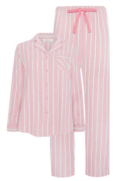 Blush Stripe Pyjama Set