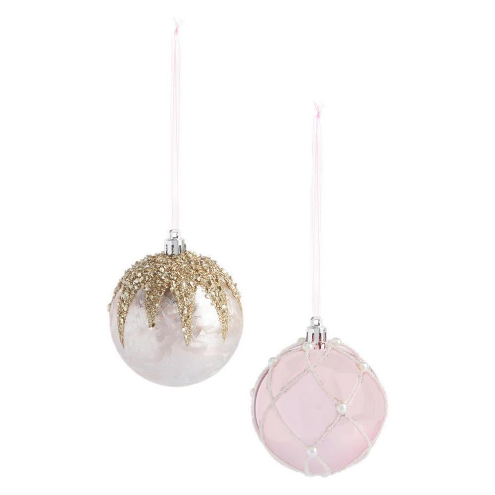 Pink Glitter Bauble 2 Pk by Primark