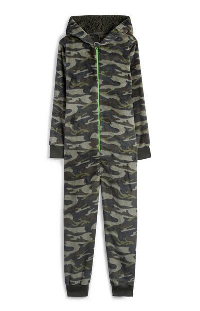 Older Boy Khaki Camouflage Onesie