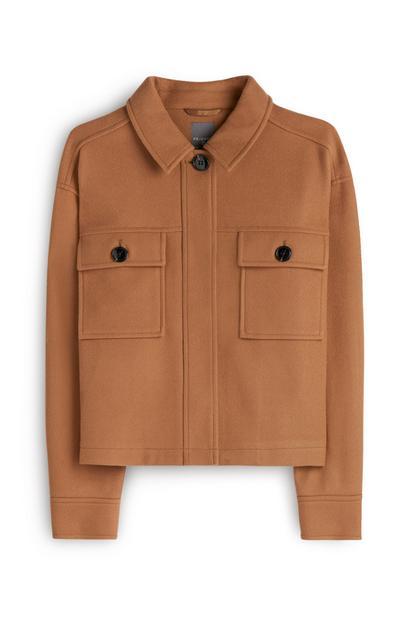 Brown Fleece Shacket