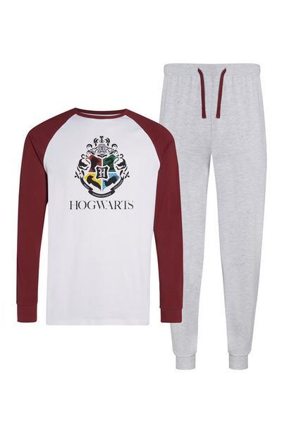 Grey Hogwarts Pyjama Set