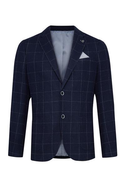 Navy Wool Blazer