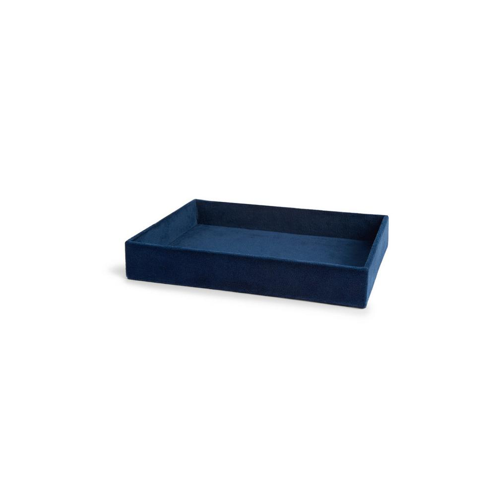 Navy Velvet Trinket Tray by Primark