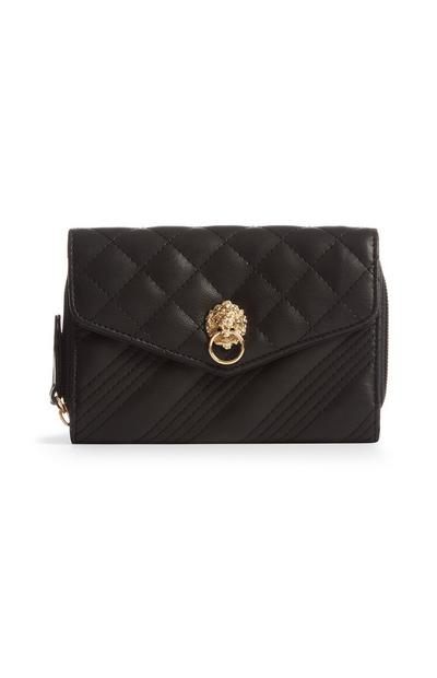Black Quilted Lion Bag