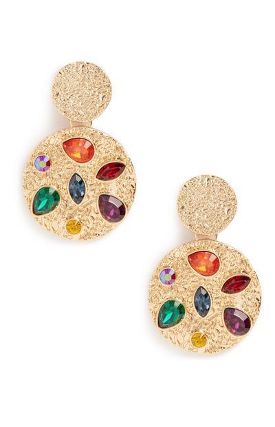 Colour Gem Texture Earrings