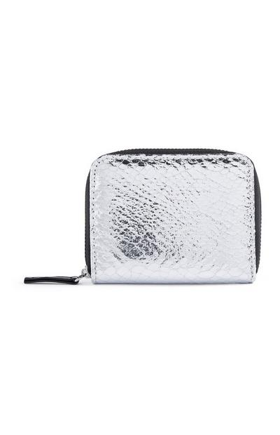 Silver Snakeprint Coin Purse
