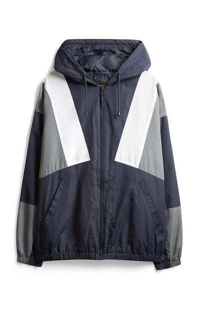 Marineblaue Retro-Jacke