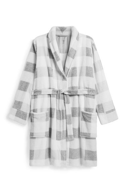 Grey Check Dressing Gown