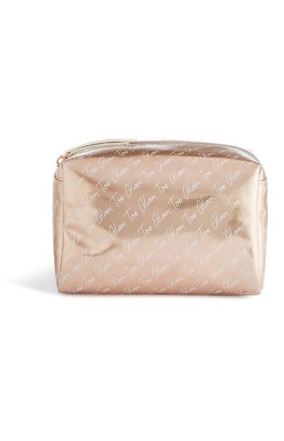 Gold Too Glam Makeup Bag