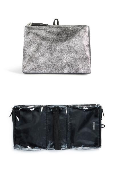 Silver Toiletries Bag